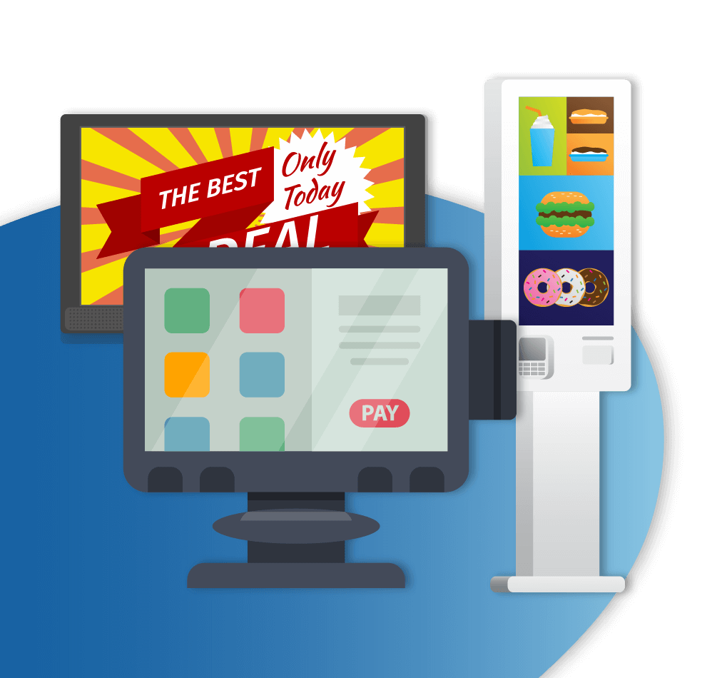 Automated Gadgets like POS systems, and Digital Signage and Schedulers